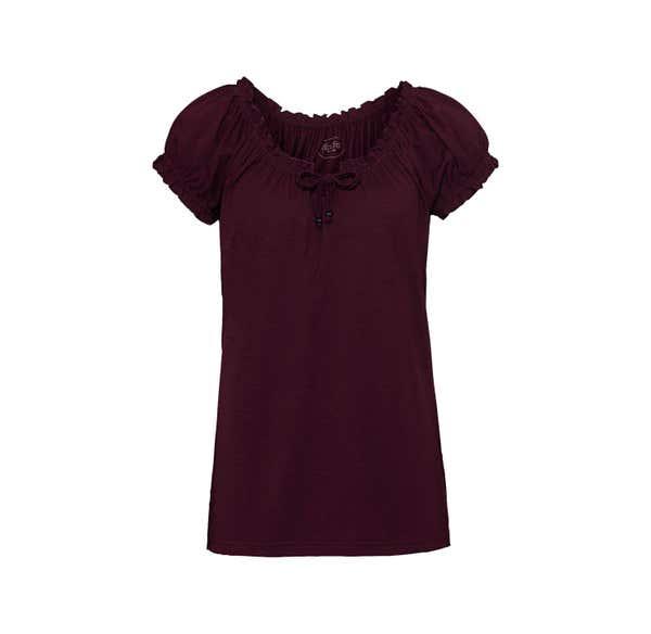 Damen-T-Shirt mit Carmen-Ausschnitt