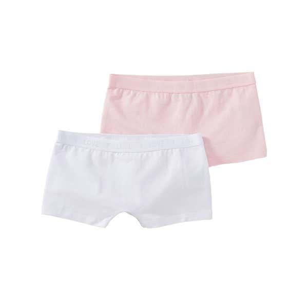 Mädchen-Panty mit Webbund, 2er Pack