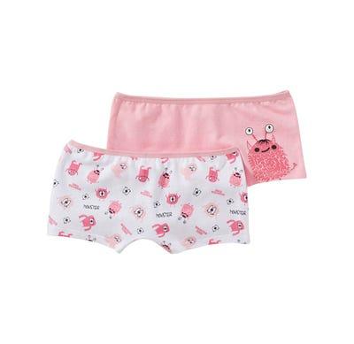 Mädchen-Panty mit Monster-Muster, 2er Pack