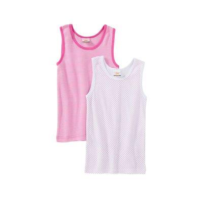Mädchen-Unterhemd mit schickem Muster, 2er Pack