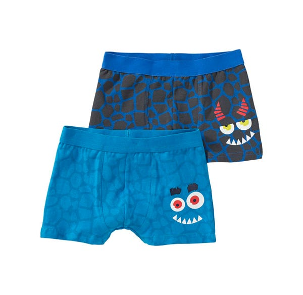 Jungen-Retroshorts mit Monster-Design, 2er Pack