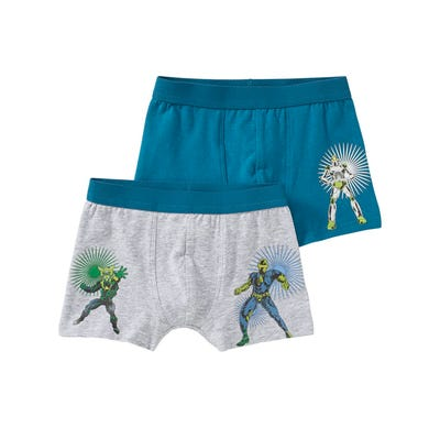 Jungen-Retroshorts mit Action-Helden, 2er Pack