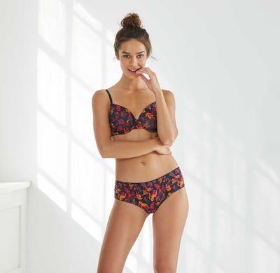 Damen-Panty mit modernem Blumendesign