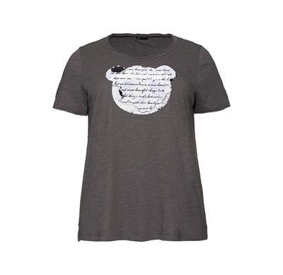 Damen-T-Shirt mit Wendepailletten, große Größen