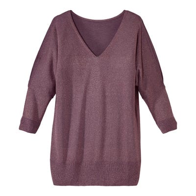Damen-Pullover mit Glitzereffekt