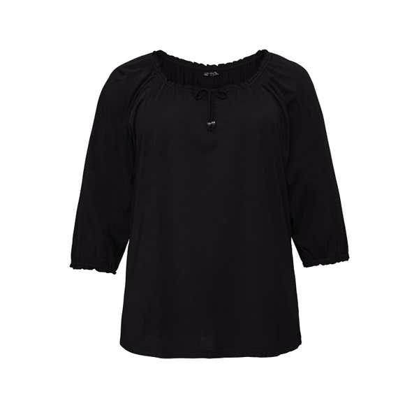 Damen-Shirt mit Carmen-Ausschnitt, große Größen