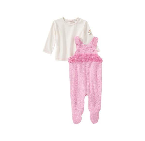 Baby-Mädchen-Set mit Strampler, 2-teilig