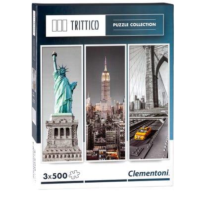 Clementoni Trittico Puzzle in verschiedenen Ausführungen, 500 Teile