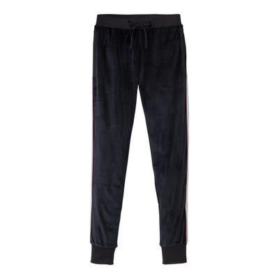 Damen-Samt-Hose mit glänzenden Streifen