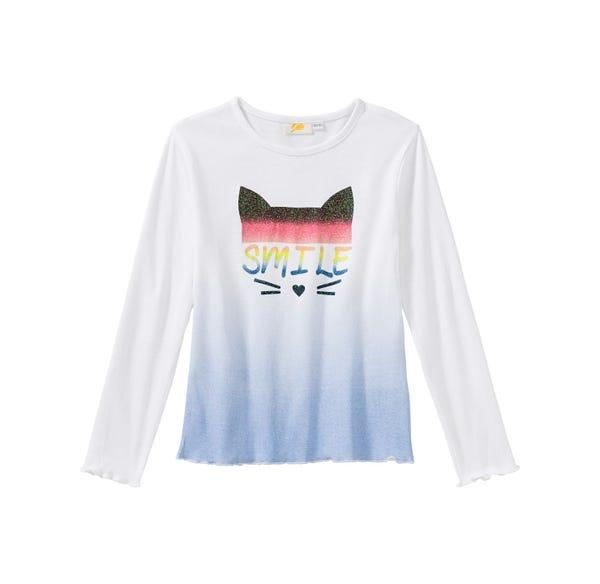 Mädchen-Shirt mit glitzerndem Frontaufdruck