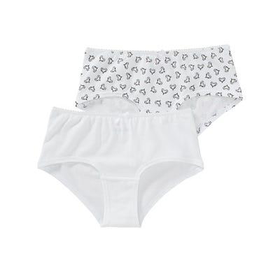Damen-Panty mit Herzmuster, 2er Pack