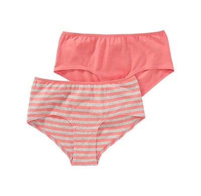 Damen-Panty mit Streifenmuster, 2er Pack