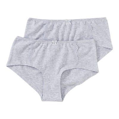 Damen-Panty in Melange-Optik, 2er Pack