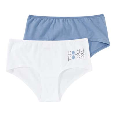 Damen-Panty mit schickem Logo, 2er Pack