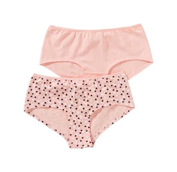 Damen-Panty mit Sternenmuster, 2er Pack