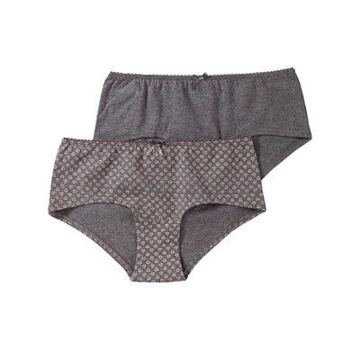 Damen-Panty mit Satin-Zierschleife, 2er Pack