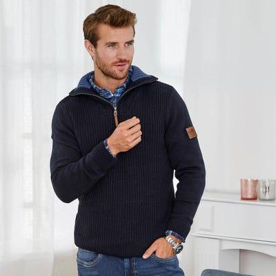 Herren-Pullover mit stylischem Stehkragen