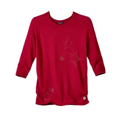 Damen-Pullover mit glänzendem Glitzerdruck