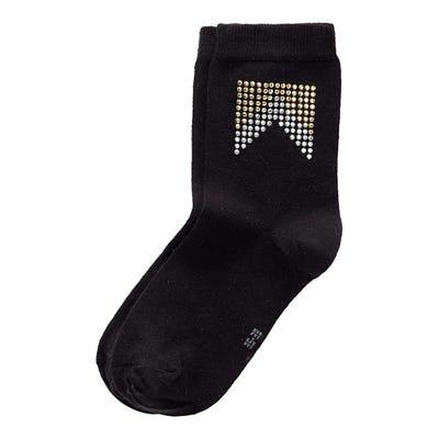 Damen-Socken mit Schmucksteinchen-Muster
