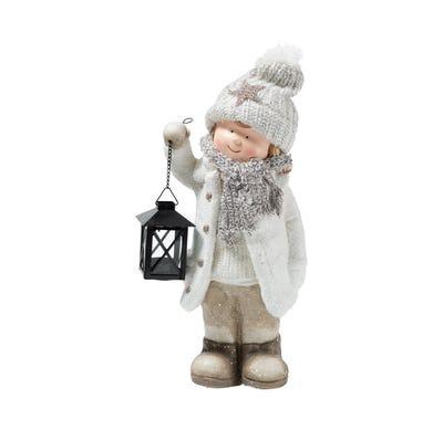 Figur in toller Winter-Optik, ca. 18x13x43cm