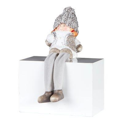 Weihnachtsfigur aus Keramik, ca. 9cm