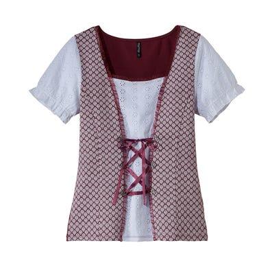 Damen-Trachten-Bluse mit toller Schnürung
