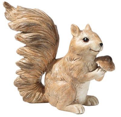 Eichhörnchen aus stabilem Polyresin, ca. 21x10x18cm