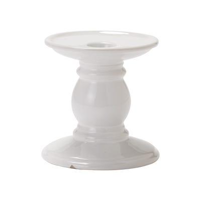 Keramik-Kerzenständer in festlicher Optik, ca. 10x10cm