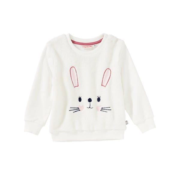 Baby-Mädchen-Sweatshirt mit süßem Hasengesicht