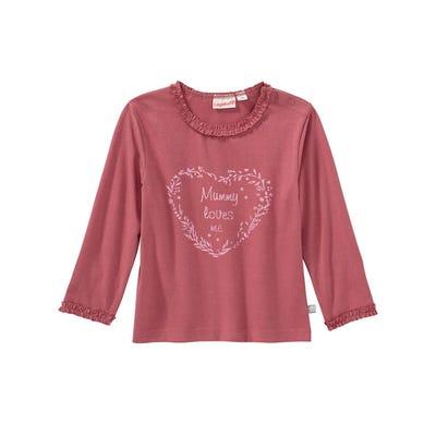Baby-Mädchen-Shirt mit Glitzerherz