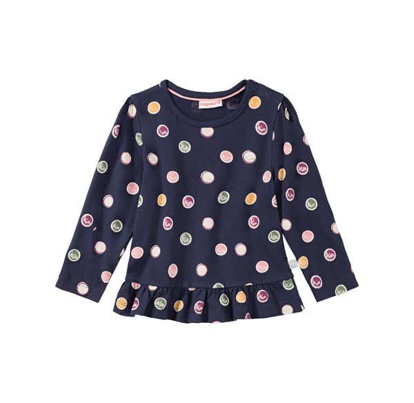 Baby-Mädchen-Shirt mit Kreismuster