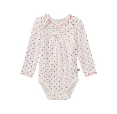 Baby-Mädchen-Body mit Herzmuster