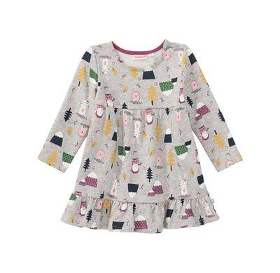 Baby-Mädchen-Kleid mit Wald-Muster