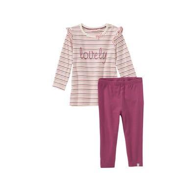 Baby-Mädchen-Set mit Zierschleife, 2-teilig