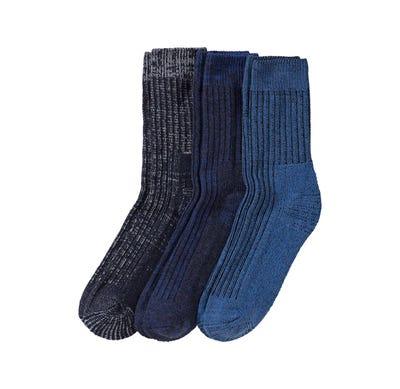 Herren-Socken in Jeans-Melange-Optik, 3er Pack