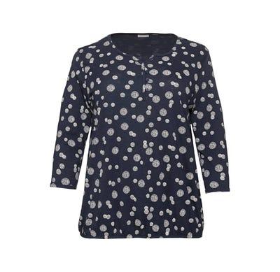 Damen-Shirt mit Kreis-Muster, große Größen