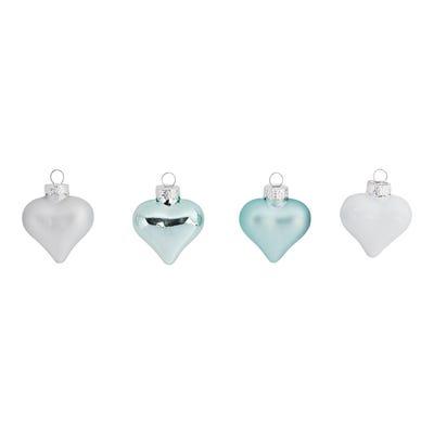 Herzen aus Glas, 20er Pack