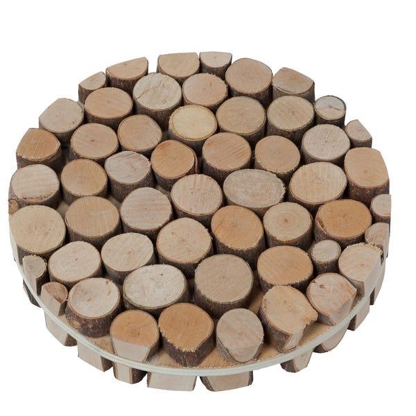 Holzplatte aus echten Astscheiben