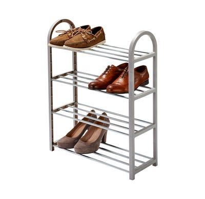 Schuhregal aus stabilem Metall, ca. 50x19x65cm