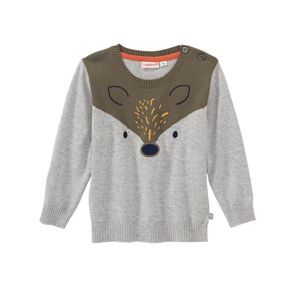 Baby-Jungen-Pullover mit Fuchs-Applikation