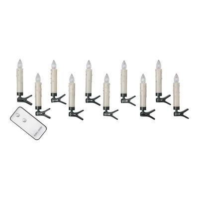 LED-Clip-Weihnachtsbaumlichter mit Fernbedienung, ca. 2x11cm, 10er Pack