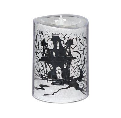 LED-Kerze mit Halloween-Motiv, ca. 11x5x8cm