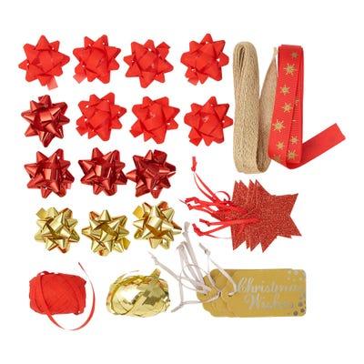Geschenmkverpackungs-Set mit 30 verschiedenen Teilen