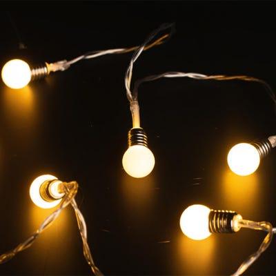 LED-Lichterkette mit kleinen Leuchtkugeln, ca. 165cm