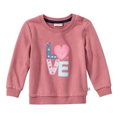 Baby-Mädchen-Sweatshirt mit Love-Frontaufdruck