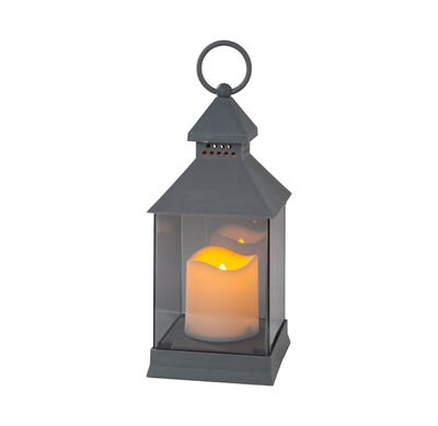 LED-Laterne mit Kerze, ca. 11x11x24cm