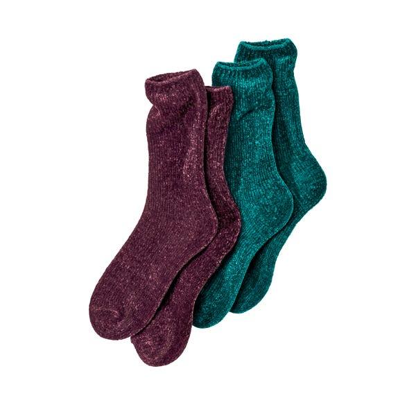 Damen-Kuschelsocken in verschiedenen Farben, 2er Pack