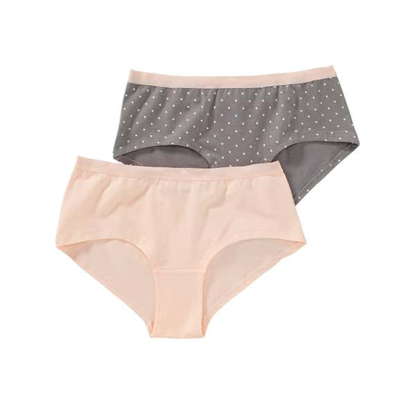 Damen-Panty mit Punkte-Muster, 2er Pack