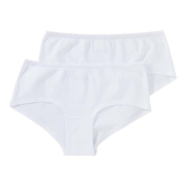 Damen-Panty mit schickem Spitzen-Bund, 2er Pack