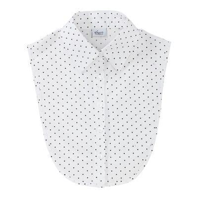 Damen-Blusenkragen mit Pünktchen-Muster